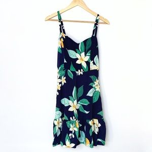 Tropical Ruffle Hem Sundress